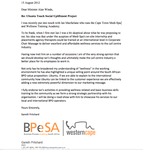 Endorsement Letter from BPeSA